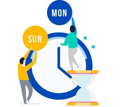 working clock free img